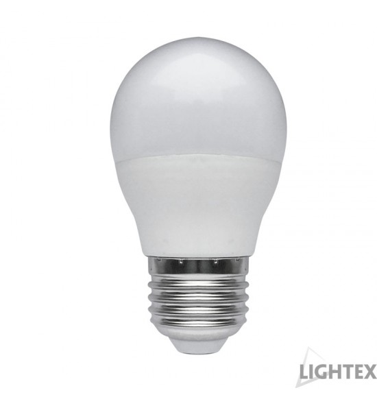 LED лампа Plastic. 7W 220V E27 P45 матирана NW 4000K Lightex