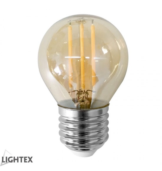 Led лампа FILAMENT 4W 220V E27 G45 Gold 2200K Lightex