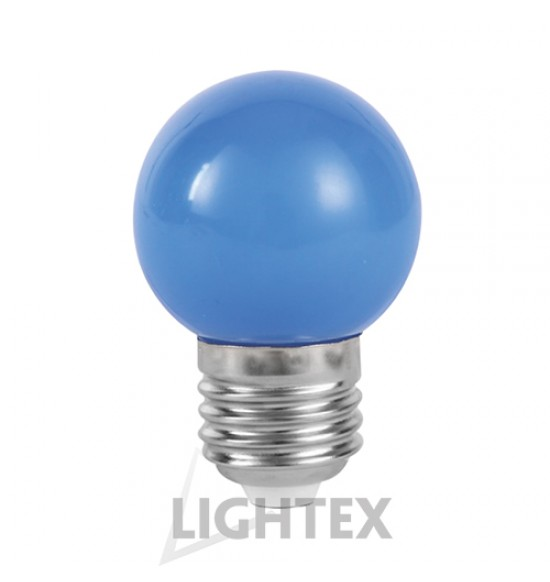 LED лампа  синя 1W 220V P45 E27  Lightex