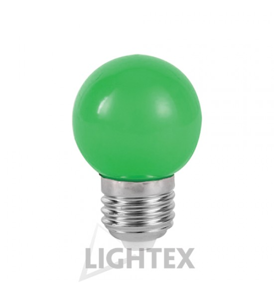 LED лампа  зелена 1W 220V P45 E27  Lightex