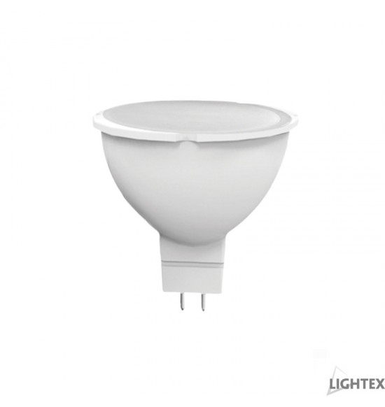 LED лампа Plastic 7W 220V GU5.3  WW 3000K Lightex