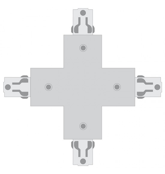 X JOINT CONNECT SILVER четворна  връзка за трифазна шина  4Рins