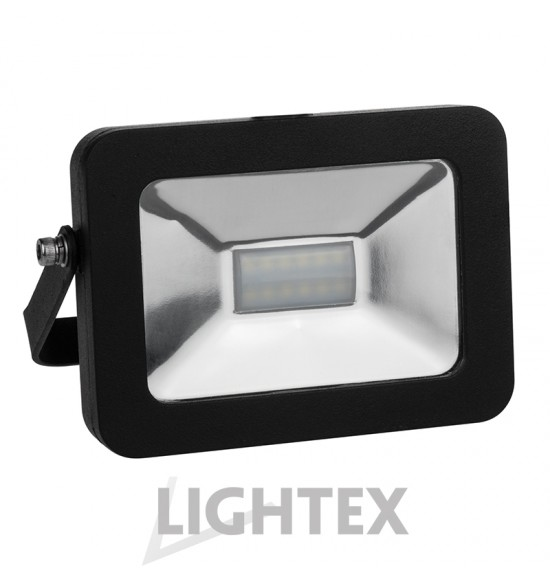 LED прожектор черен  SLIM PREMIUM 220V 10W IP65 NW 4000K Lightex
