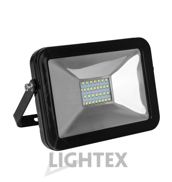 LED прожектор черен  SLIM PREMIUM 220V 30W IP65 NW 4000K Lightex