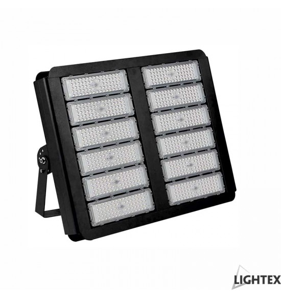 LED прожектор GRAF 500W 6500K IP65 220V черен, чип PHILIPS и драйвър PHILIPS Lightex