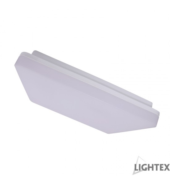 LED плафон квадрат ZIZU II 24W 4000K IP54 280mm бял Lightex