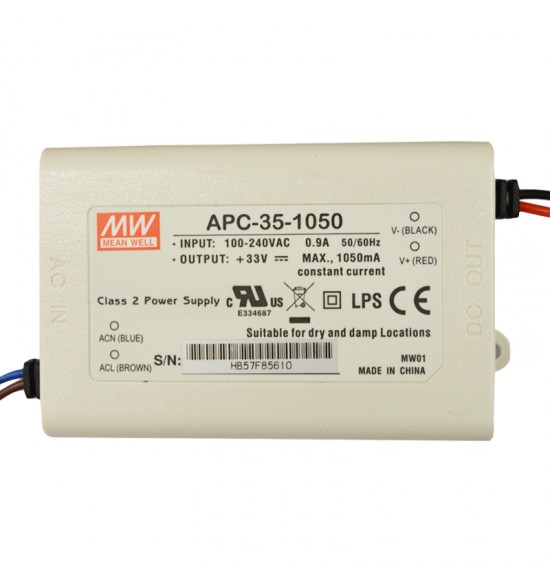 Led драйвър 35W 11-33V 1050mA IP42  MEAN WELL
