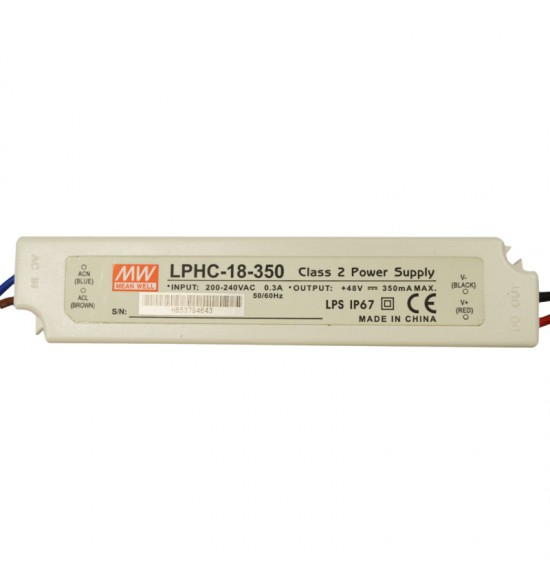 Led драйвър 18W 6-48V 350mA IP67  MEAN WELL