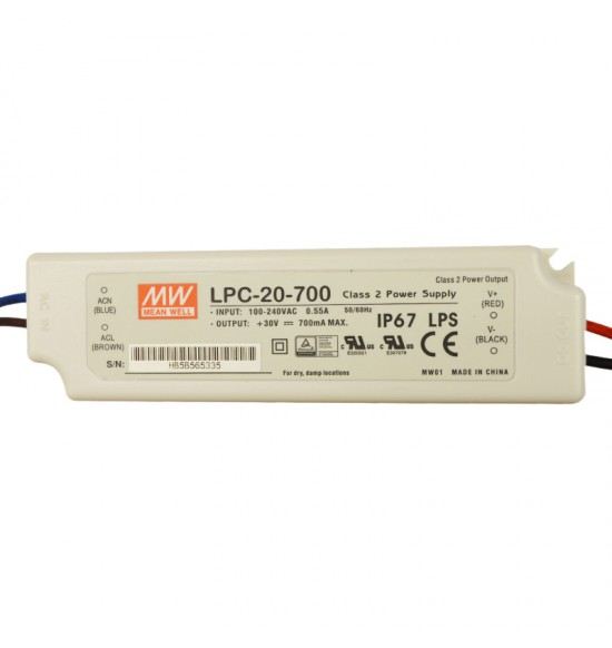 Led драйвър 20W 9-30V 700mA IP67  MEAN WELL