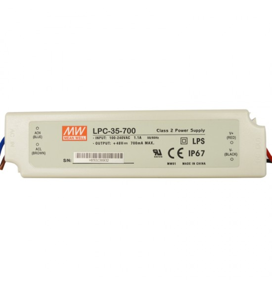Led драйвър 35W 9-48V 700mA IP67 MEAN WELL